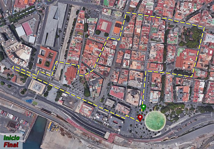 Ruta peatonal Santa Cruz - Histórica