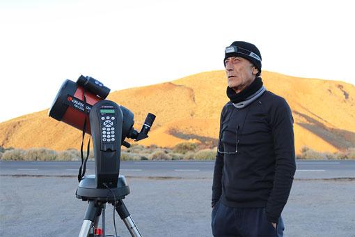 Observación de estrellas en el Teide - Telescopio y prismáticos